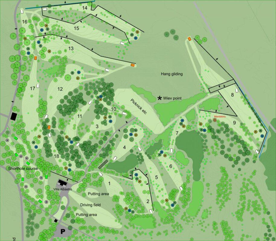 Karta över Järvas nya banlayout